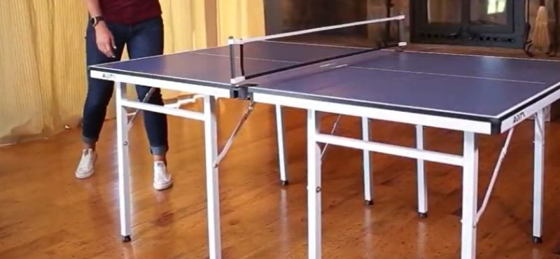 standard ping pong table size in inches