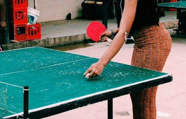 what are ping pong tables made of