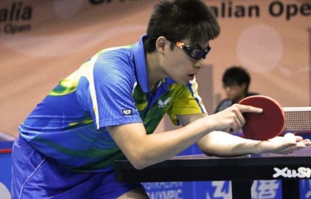 How many let serves are allowed in table tennis