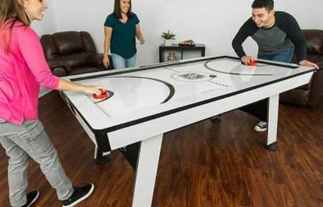 When was air hockey invented