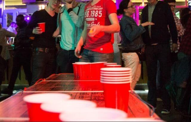 beer pong with paddles