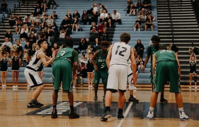 how long is a high school basketball court