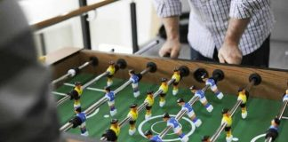 how to clean a foosball