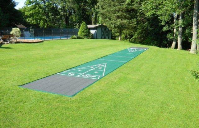 how to make shuffleboard court in your yard