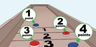 how to play shuffleboard iMessage game