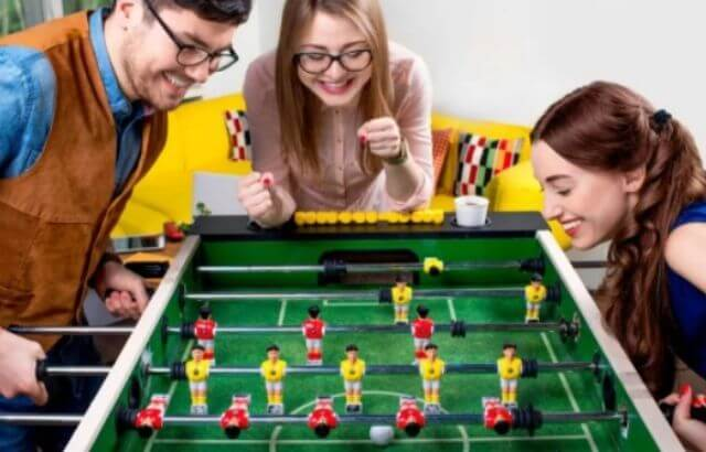 clean foosball playing surface