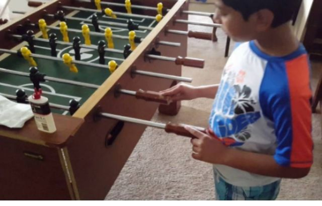 how to clean foosball balls