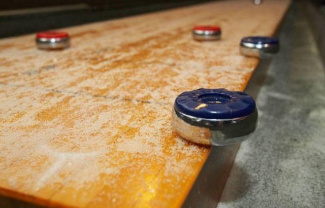 shuffleboard english backspin
