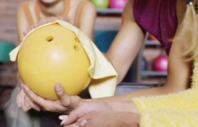 will acetone damage a bowling ball