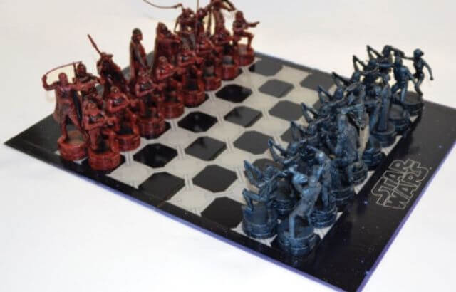 star wars 3d chess set