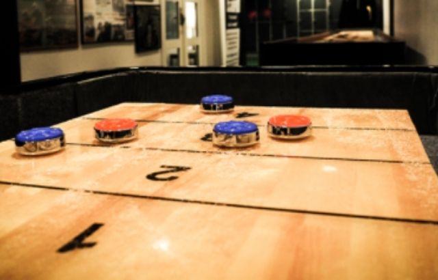 Bank shot shuffleboard rules