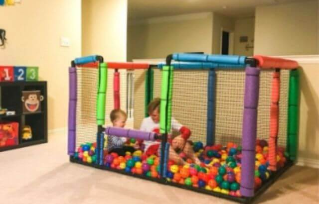 DIY ball pit for babies