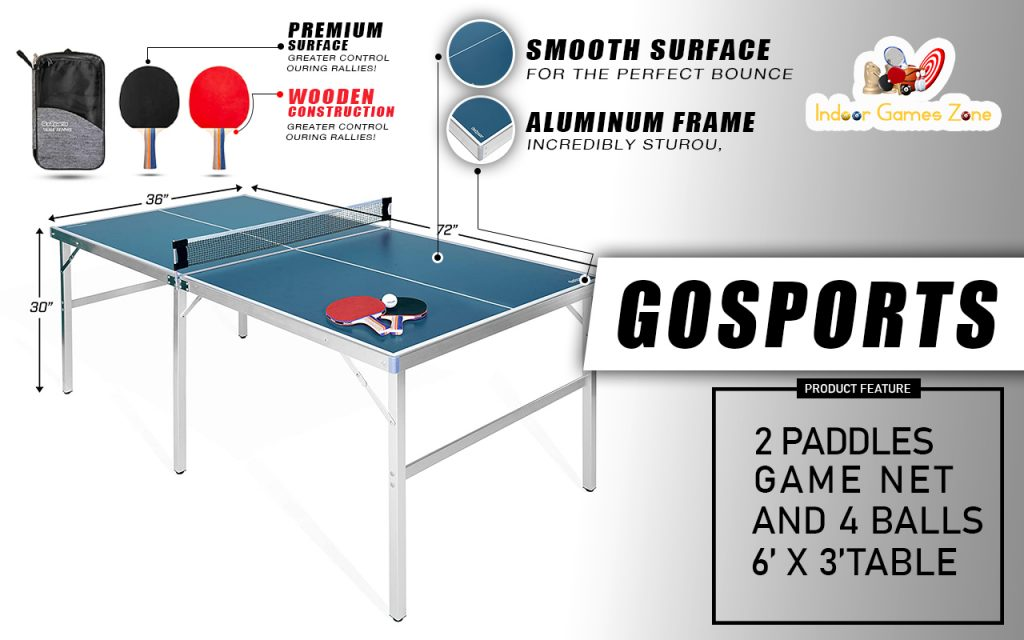 GoSports Mid-Size Table Tennis Game Set Review
